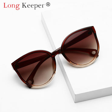 Women Clear Lens UV400 Shade Fashion Cat Eyes Sunglasses