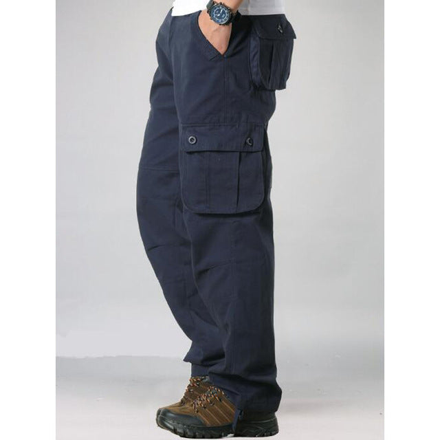 Men Cargo Pants Multi Pockets Military Tactical Style