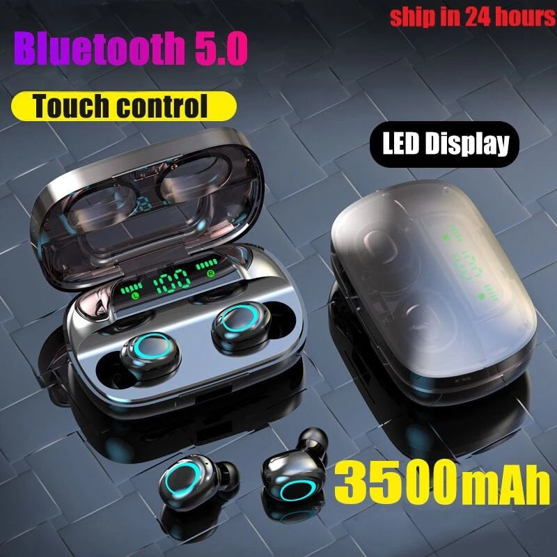 Smart Bluetooth Wireless Earphones 3500mAh