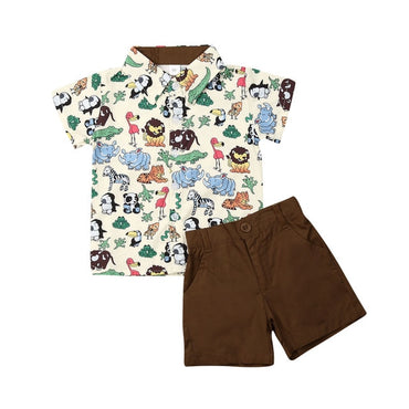 Baby Boy Outfits Set Short Sleeve Shirt and Cotton Shorts Boy Clothing