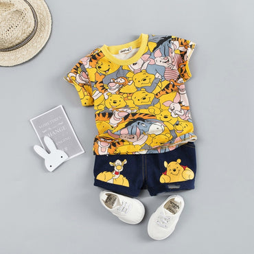 Baby Boy Clothing Sets Summer Cartoon T-Shitr + Short Pants