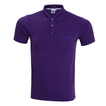 New Fashion Men Short Sleeve Solid Color Polo Shirt