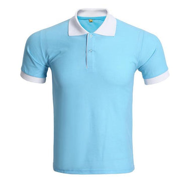 Brand Design Men Fashion Short Sleeve Slim Polo Shirt