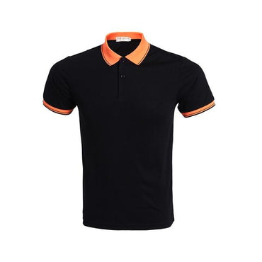 New Fashion Men Short Sleeve Slim Fit Breathable Polo Tshirt
