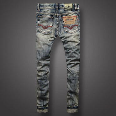 Italian Style Men Jeans Top Quality Fashion Street Biker Jeans