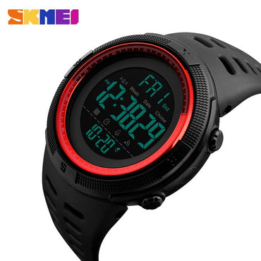 Fashion Men Sports Watches Chronos Waterproof LED Digital Display