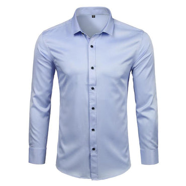 Men's Bamboo Fiber Slim Fit Comfortable Dress Shirt