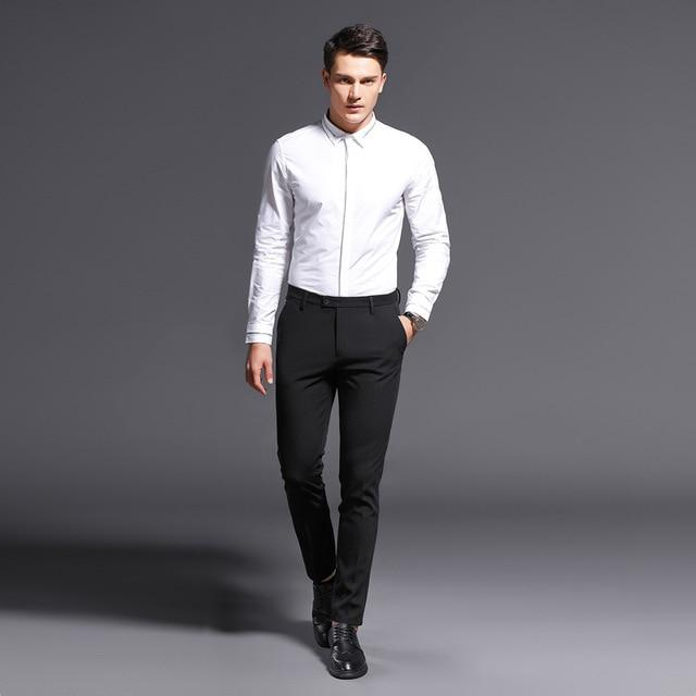 New Arrival Men Top Quality Classic Formal Straight Suits Long Pants
