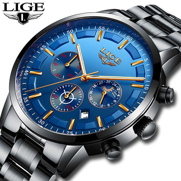 Men Luxury Fashion Full Steel Business Waterproof Quartz Watch