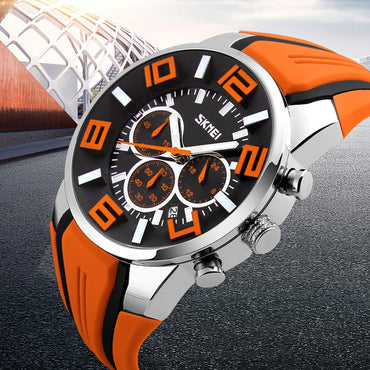 Unique Edittion Men Luxury Chronograph Sports Watches Waterproof Quartz Watch
