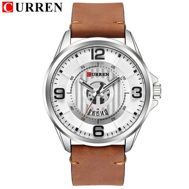 Luxury Design Men Leather Wristwatch Analog Waterproof Premium Style