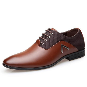 Men Dress Shoes Leather Luxury Fashion Lace Up Oxford Shoes