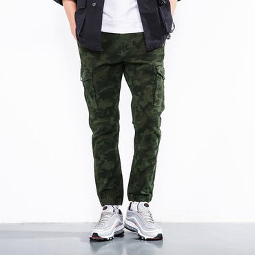 Men Cargo Pants Cotton Casual Skinny Military Tactical Slim Stretch Pants