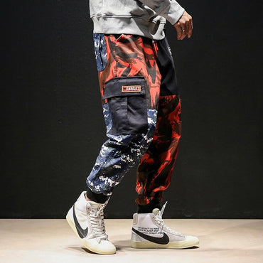 Men Cargo Pants High Street Hip Hop Camouflage Fashion Casual Loose Sweatpants