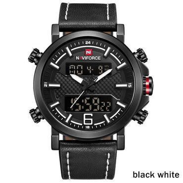 Sporty Mens Watches LED Analog Digital Display Fashion Design