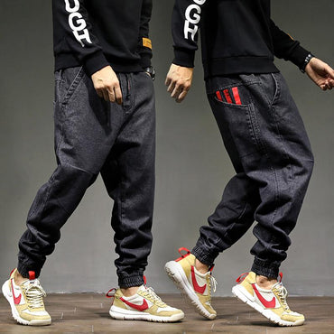 Hip Hop High Street Fashion Men Jogger Jeans