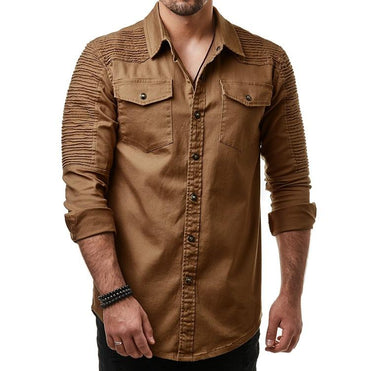 New Arrival Men Long Sleeve Cotton Shirt