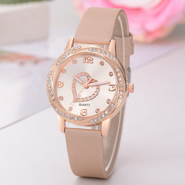 Elegant Women Leather Strap Bracelet Watches