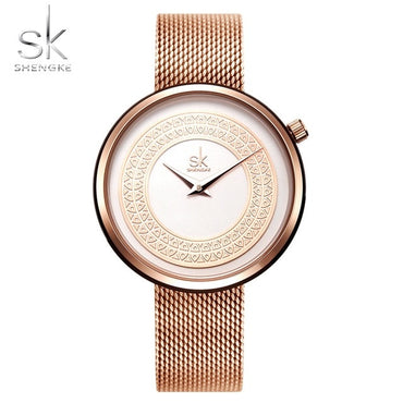 Women Watches Fashion Vintage Design Luxury Golden Quartz Watch
