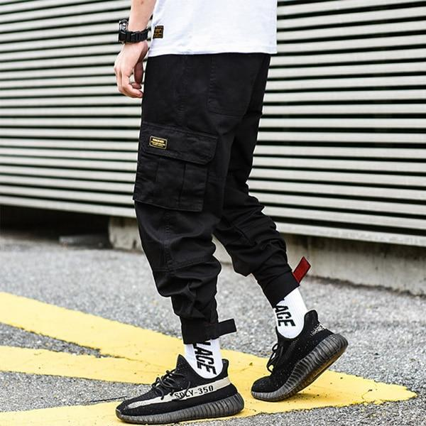 Fashion Camouflage Punk Style Men Streetwear Hip Hop Cargo Pants