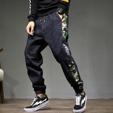 Super cool men fashion camouflage collage hip hop jeans