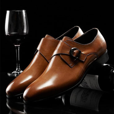 Top Luxury Men Genuine Leather Handmade Cowhide Oxfords Dress Shoes