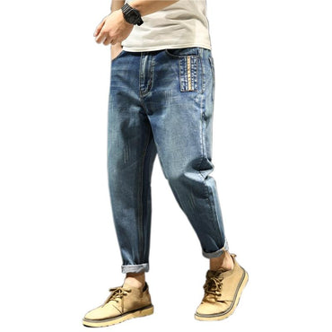 Hot fashion style men loose casual full length jeans