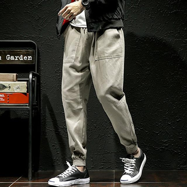 Men Pants Streetwear Hip Hop Fashion Design Joggers