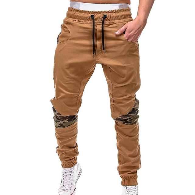 Men Camouflage Casual Patchwork Sweatpants