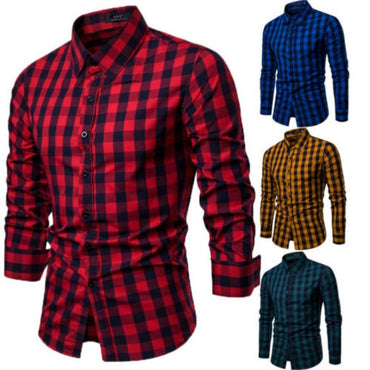 New Arrivals Men Slim Fit Solid Long Sleeve British Style Cotton Shirt