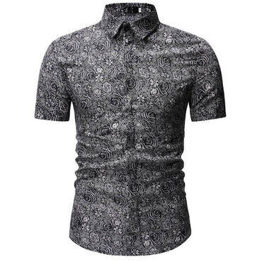 New Arrival Men Fashion Style Hawaiian Short Sleeve Shirt