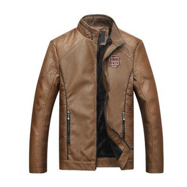Men Leather Jacket Thick Slim Fit Stand Collar Biker Jacket Premium Quality