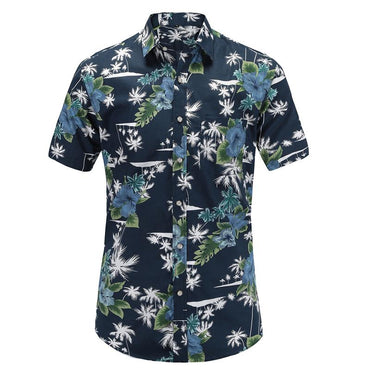 Men Fashion Hawaiian Short Sleeve Shirt