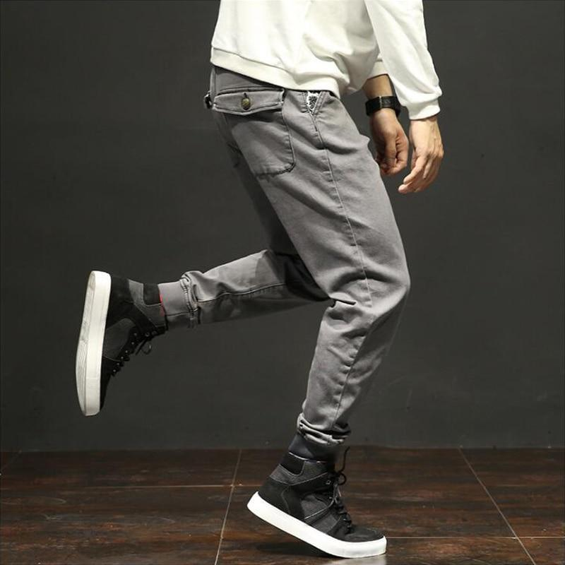 Fashion Classical Men Multi Pockets  Wild Military Ankle Banded Cargo Pants