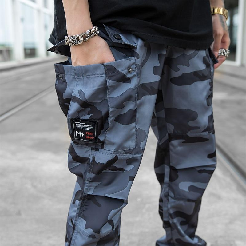 Hip Hop Streetwear Men Camouflage Cargo Pants Military Style Harem Trousers