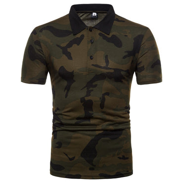 Hot Fashion Men Camouflage Polo Shirt