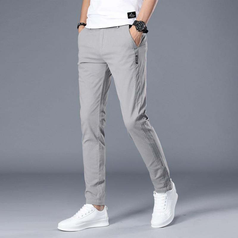 Men Classics Mid weight Straight Full Length Fashion Breathing Pants