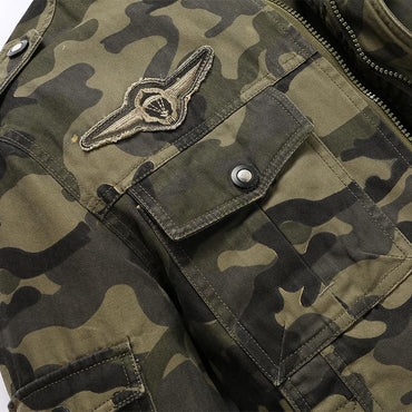 Men Bomber Jacket Camouflage Military Windbreaker Cool Design Jacket