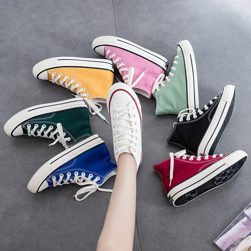 Classic fashion women high top casual wild sneakers