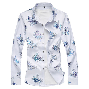 Fashion Design Men Long Sleeve Casual Shirt