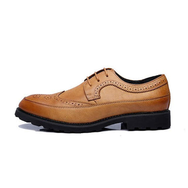 Men Dress Shoes British Style Fashion Brand Brogue Oxfords Shoes