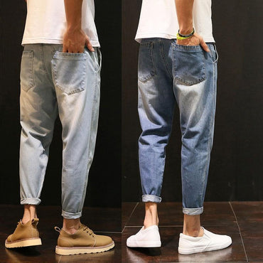 Super Cool Men Vintage Hip Hop Style Loose Harem Jeans Pants