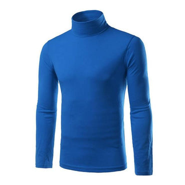 Fashion Autumn Winter Men Sweater Turtleneck Solid Color Casual Slim Fit Knitted Pullover