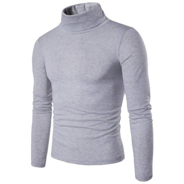 Autumn Fashion Women Casual Solid Long Sleeve Turtleneck High Quality Sweater
