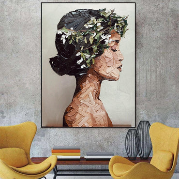 Women Oil Painting Wall Art Pictures For Home Decor