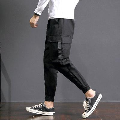 Men Multi Pocket Hip Hop Casual Cargo Joggers Pants