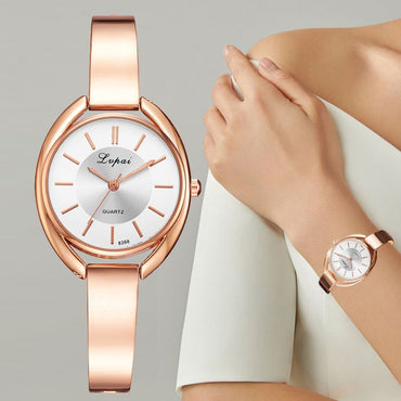 Elegant Design Women Rose Gold Bracelet Watches