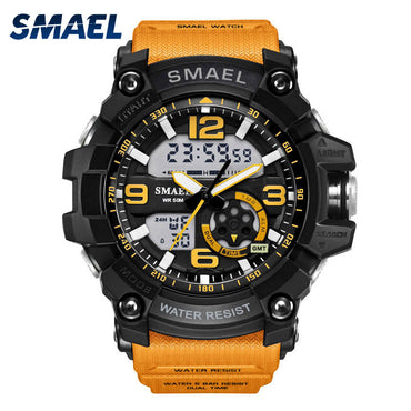 S Shock Military Men Wristwatch LED Digital Dual Time Sport Watch