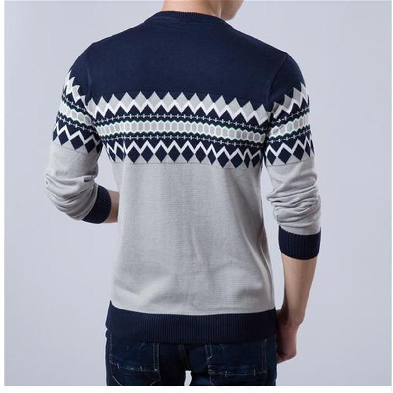 Men Sweater Fashion Brand O-Neck Slim Fit Knitting Sweaters