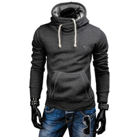 Men Hoodies Fashion Brand Solid Color Turtleneck Sportswear Hoodies
